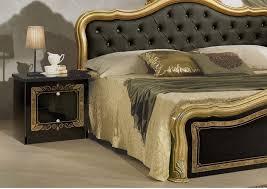 klassisches schlafzimmer lucia schwarz gold italienisch barock