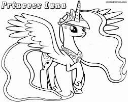 Drawing My Little Pony Luna Coloring Pages Image On Pinterest