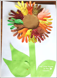 Sunflower Handprint Art 2 Autumn Fall Activities For Kids