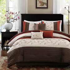 shop madison park serene brick bed in a bag sets the home