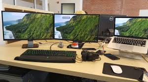 Dell Monitor Arm Desk Mount by Anyone Using External Monitors With Their Macbook Pro Air If Yes