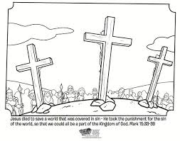 Crucifixion Free Easter Coloring PagesBible
