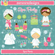 ZWD Spa Party Clipart