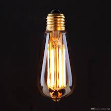 vintage led filament light bulb 6w 8w 2200k edison golden st19