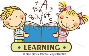 Kids Reading to her vectors Search Clip Art Illustration