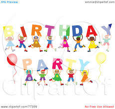 Clip Art Birthday Party For