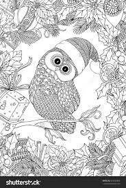 Coloring Book For Adult And Older Children Page With Christmas Pages