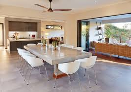 Contemporary Ceiling Fans Over Dining Tables