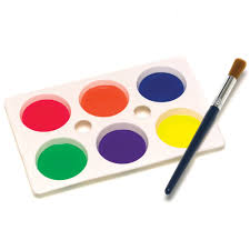 Brush Clipart Paint Tray