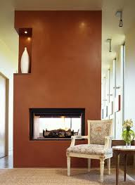 Fireplace Accent Wall Ideas Family Room Modern With Ceiling Lighting Two Way Side Table