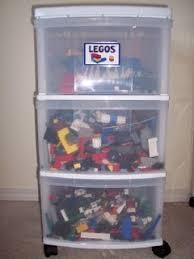 Plastic Drawers On Wheels by Lego Storage