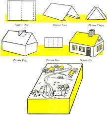 Make A Town Or Village With Cardboard Boxes