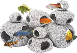 Extra Large Fish Tank Decorations by 1 Large U0026 1 Extra Large Aquarium Ornament Natural Granite Stone