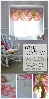 Sewing Curtains For Traverse Rods by The Easiest No Sew Window Valence Ever Window Valences