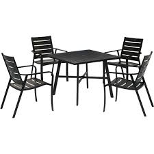Cortino 5-Piece Commercial-Grade Patio Dining Set With 4 Aluminum Slat-Back  Dining Chairs And A 38 Zuo Mayakoba White Stationary Alinum Outdoor Ding Chair 2pack Best Patio Fniture And Metal Garden Table Folding Lofty Clearance Epic Wrought Iron Sets Chair Lisa White Breeze Ding Chair Shiaril 5 Pc And Navy Set Setting Chairs Wicker Room Resin Modern Cushions Of 20 High Gloss By Andre Putman For Emeco Mamagreen Sr Hughes Grace 6 Seater Warehouse