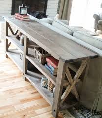 Inspiring X Side Table And Ana White Rustic Console Diy Projects