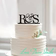 Cake Topperbride And Groom Initial Topper Wedding Toppers Rustic Acrylic Letter