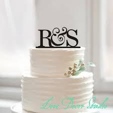 cake topperbride and groom initial cake topper wedding cake