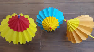 How To Make A Paper Umbrella That Open And Closes Step By Art Craft Work With