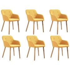 esszimmerstühle 6 stk gelb stoff