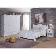 chambre avec meuble blanc chambre blanche complète lit 140 armoire chevet beaux meubles