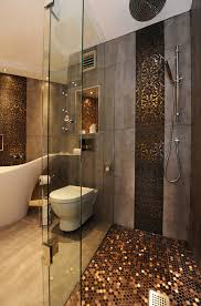 create a feeling of bathroom space floor to ceiling shower tile