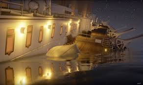 Sinking Ship Simulator The Rms Titanic by Real Time Video Of Sinking Titanic Goes Viral With Six Million