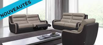 canape cuir discount relax canap avec salon cuir pas cher et canape cuir relax