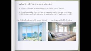 Rod Desyne Curtain Rod Ceiling Brackets by How To Install Bay Window Curtain Rods Youtube