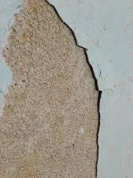 1960s House State Of Walls After Stripping Wallpaper