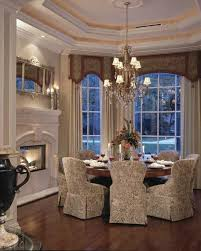 What A Gorgeous Set Of Treatments For Bay Window Really Sets The Space Diningroom IdeasFormal