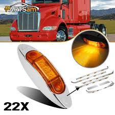 100 Truck Clearance Lights Amazoncom Partsam Amber Chrome Oval Led Side Marker
