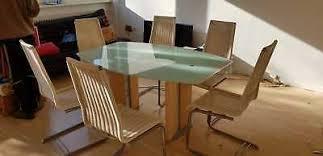 esstisch essgruppe sitzgruppe massiv tisch 6 stühle