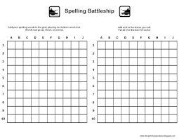 Educational Game Templates Battleship Template Idea For Make Your Own Pieces 24 Free