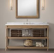 Restoration Hardware Mirrored Bath Accessories by Weathered Oak Washstand Bath Collection Weathered Oak Rh