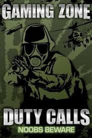 Gaming Zone Duty Calls Noobs Beware Video Game Maxi Poster Print