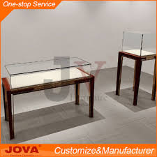 Custom Made Used Jewelry Display Cases Modern Wooden Mirror Cabinet Glass Jewellery