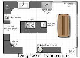 Galley Kitchen Floor Plans by Breathtaking Galley Kitchen With Island Floor Plans Also Microwave