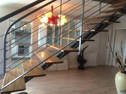 escalier droit interieur villa