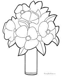 Coloring Picture Of A Flower
