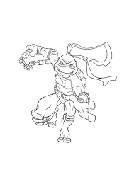 Turtles Ninja Coloring Picture For Kids
