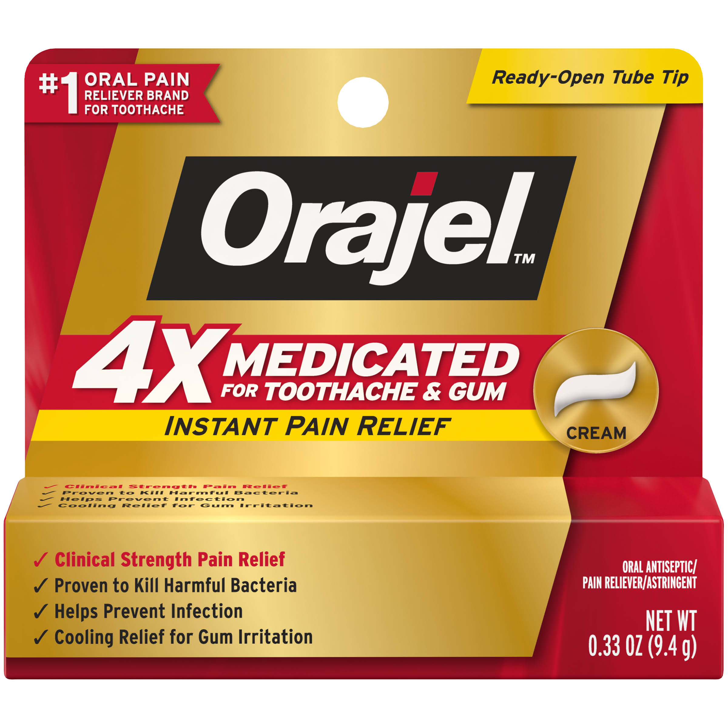 Orajel Severe Triple Medicated Instant Pain Relief - 0.33oz