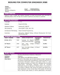 Tcs Resume Format For Freshers Computer Engineers by Tcs Resume Format It Resume Cover Letter Sle