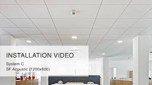 100 Exposed Ceiling Design Installation Video System With Shadow Gap SF 1200x600 From Knauf AMF