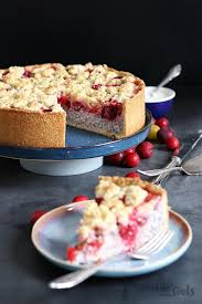 mirabelle poppy seed streusel cheesecake bake to the roots