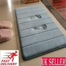 details zu neu 40 60cm badematte badezimmer teppich wasser absorption shaggy schaumstoff