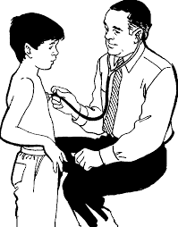 Doctor Check Child Coloring Pages