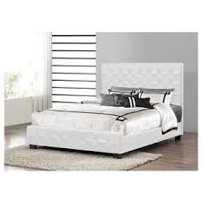 Baxton Platform Bed by Baxton Studio Manchester White Leather Modern Full Size Plat
