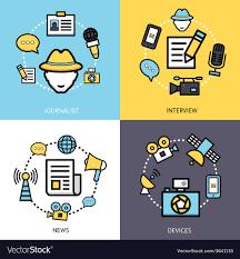 News Reporter Design Concept Vector Image