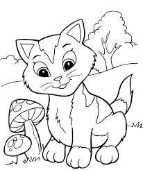 Coloring Pages Christmas Kittens Pictures Of Page Full Size